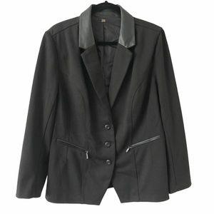 Black Blazer Jacket 3 Button with Pockets 16